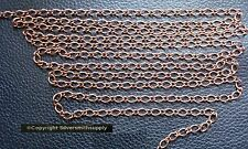 6' Antique copper plated bulk twist cable link 5x4x3mm necklace extenders ch128