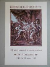 REATTU Jacques Affiche originale 83 Arles Dessin Mythologie Grèce Révolution
