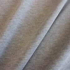 Stoff Meterware Baumwolle Sweatshirt French Terry grau meliert Preis je Laufmete