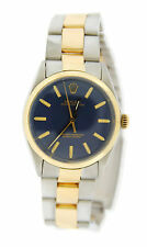 Rolex Oyster Perpetual Blue Dial Two Tone Stainless Steel Watch 1002