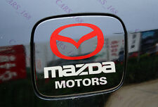 Amazing Car Fuel Gas Tank Cap Stickers Adhesive Graphic For Mazda (White)