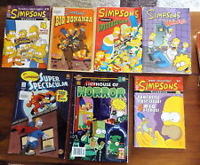 Lot of 7 The Simpsons Comics Magazines # 4 & First Super Sized Issue Classics