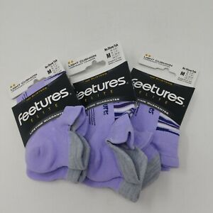 NEW! Features Elite Cushion, Sock W/ No Show Tab- Sizes M/L, Assorted Colors-3pk