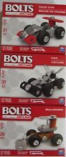 Bolts Meccano 3 Piece Building Sets Race Car, Car and Bulldozer NEW IN BOX!