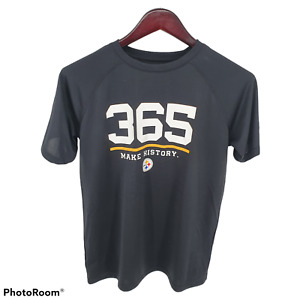 Under Armour NFL Combine Pittsburgh Steelers Shirt 365 Make History Youth XL