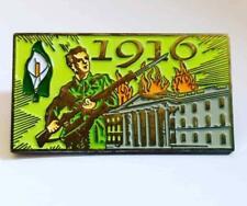 1916 Easter Rising GPO Enamel Pin Badge - Irish Republican Easter Lily
