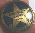 1936 NewJersey Roosevelt Garner Club FDR Political Campaign Metal Blue Enamelpin