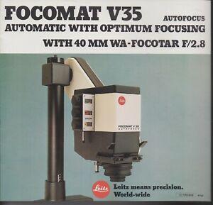 LEICA , LEITZ , FOCOMAT V35 AUTOMATIC WITH OPTIMUM FOCUSING