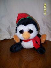 "Aurora People Pals Penguin Plush Winter Hat Scarf 10"""