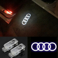 For Audi Logo 2 LED Laser Projector Car Door Welcome Ghost Courtesy Shadow Light