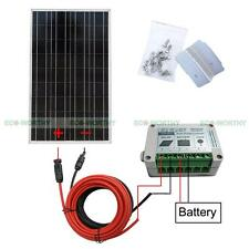 100W Solar Panel System with Cable & Controller & Bracket for Battery Charger