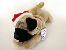 Aurora Flopsies Holiday Pug 12 Inch Super Soft Bean Filled Animal NEW 0#9220