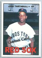 JOSE TARTABULL BOSTON RED SOX 1967 STYLE CUSTOM MADE BASEBALL CARD BLANK BACK