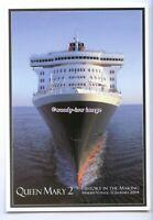 LN1132 - Cunard Liner - Queen Mary 2 , built 2004 - postcard