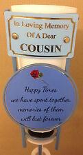 In Loving Memory Of A Dear Cousin Grave Spike Flower Vase Memorial Tribute BHT