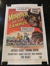 MONSTER ON THE CAMPUS Original 1958 Movie Poster, C8.5 Very Fine to Near Mint