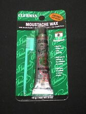 CLUBMAN MOUSTACHE WAX WITH BRUSH/COMB,STYLING AND COLOR TOUCH UP PICK ANY COLOR.