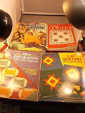 """LOT OF QUILTING BOOKS """"SUPER QUILTER II"""" """"QUILTS OF AMERICA"""" """"MORE LAP QUILTING"""""""