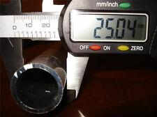 ALUMINIUM ROUND TUBE  25mm OD  x  300mm LONG  1.5mm WALL