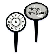 HAPPY NEW YEAR Cupcake Picks Cake Toppers Appetizer 24
