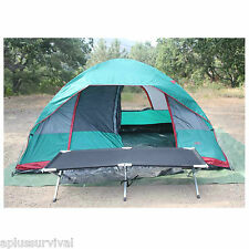 """Compact Camping Folding Cot 82"""" x 31"""" Survival Bed"""
