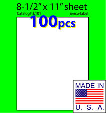 L101, 100 Full Sheet Labels,8-1/2x11,Laser InkJet Label