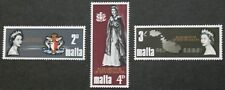 Royal visit stamps, Malta, 1967, SG ref: 396-398, 3 stamp set, MNH