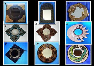 Spiegel, Esoterik, Sonne, Mond, schwarz, gold, Drachen, Neu