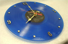 ELVIS PRESLEY Recycled Record Vinyl Wall Clock - Blue Vinyl - Moody Blue (1977)