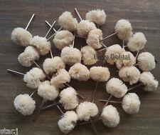 20pcs Dental Wool Brushes Polishing Wheels for Rotary Tools 2.35mm Shank