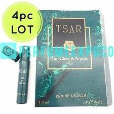 4pc LOT) TSAR Van Cleef Arpels Cologne 1.2ml SPRAY Classic Vintage SAMPLE (WH