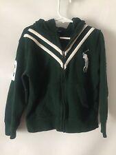 Polo By Ralph Lauren Boy's Green Crest #3 Zipper Sweatshirt Hoodie Jacket sz 5