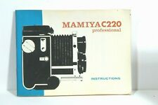 Mamiya Genuine C220 professional Camera Instruction Book / Manual / User Guide