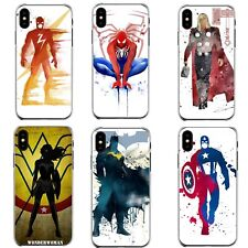 Marvel DC Captain America Flash Batman Thor Phone Case iPhone 6/7/8/X/XR/XS