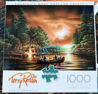"""Terry Redlin 1000 Piece Puzzle """"Evening Rendezvous"""" Buffalo Games COMPLETE"""