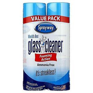 2-Pack Sprayway World's Best Glass Cleaner, Value Pack, 2x19 OZ