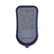 4in1 Digital LCD Screen  Hiking Outdoor Thermometer Compass Clock Stopwatch Blue