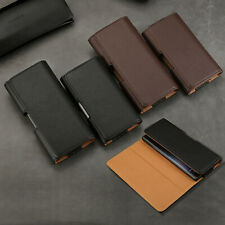 For Samsung Note 10+ 9 8 FE Universal Holster Belt Clip Pouch Leather Case Cover