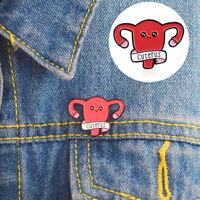 Uterus Enamel Brooch Pin Clothing Jeans Jacket Badge Breast Pin Decor Code