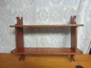 Vintage - Handmade Solid Wood Display Shelf - 2 Shelves