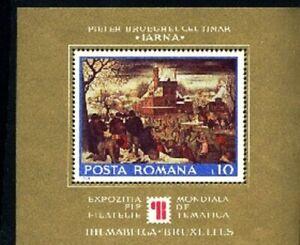 Romania 1975 SS Art, Sc. 2595 Pieter Brueghel Painting MNH