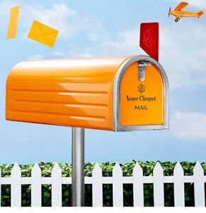 Veuve Clicquot Limited Edition Brut Champagne Red Flag Mailbox Tin Bottle Holder