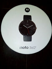 Motorola Moto 360 Smart Watch Android Devices 4.3 or Higher BLACK leather New