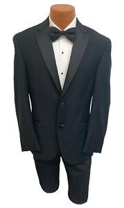 Men's Black Joseph Abboud Lisbon Tuxedo Jacket Wedding Prom Groom Mason 48S