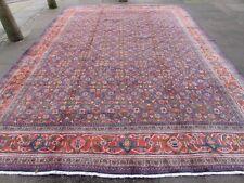 VECCHIO Fatto a Mano Tradizionale Tappeti Persiani Orientale Lana Tappeto Grande Blu 416x304cm