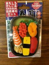 Iwako Japanese Puzzle Erasers Delivery Sushi Set