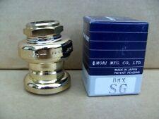 NOS BMX MORI EPOCH HEADSET 1 INCH 32.7mm GOLD OLD SCHOOL NIB BOXED