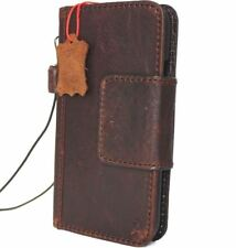 genuine leather Case for apple iphone x wallet handmade Rustic cover magnetic Jp