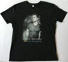 Luke Bryan Kill The Lights Size Large Black T-Shirt