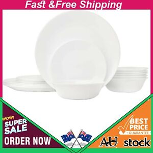Corelle 3120A Livingware Dinnerware Set (18 Piece Set) Winter Frost White New